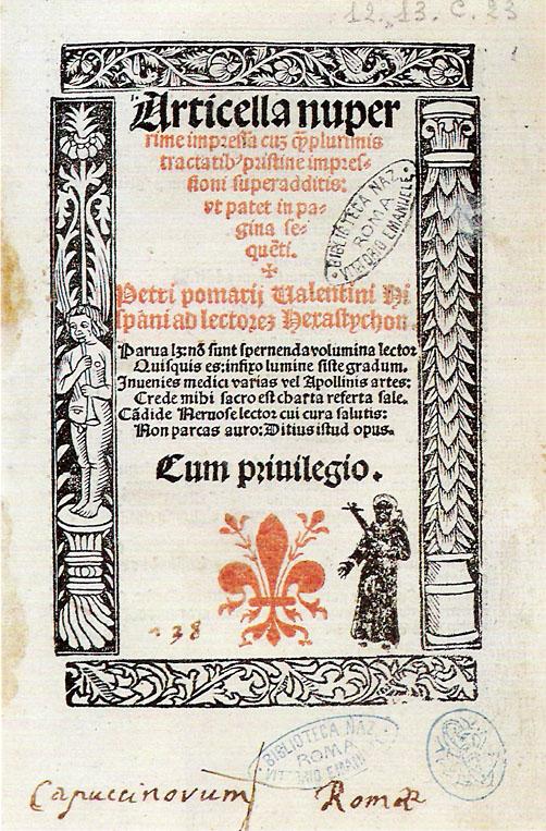 L'Articella, canone di opere collettato nel XII sec. dalla Scuola Medica Salernitana