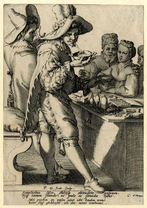 Pieter de Jode I (1585-1634) - I due ciarlatani