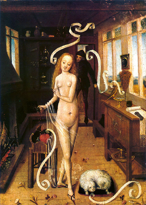 Der Liebeszauber (L'incantesimo d'amore). Autore fiammingo del Basso Reno, Museum der bildenden Künste di Lipsia.