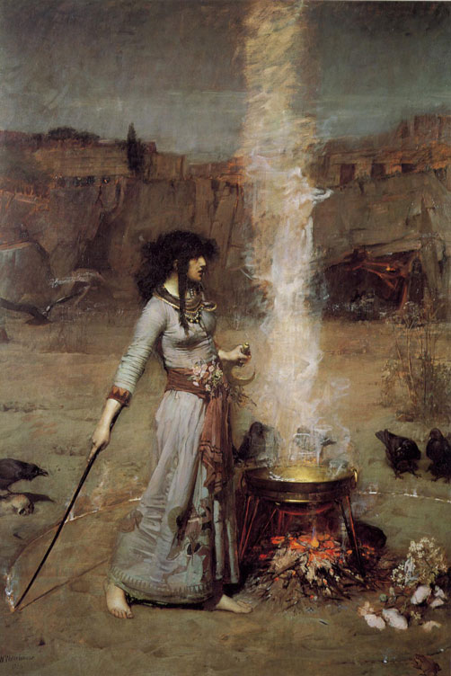 John William Waterhouse (Roma, 1849 – Londra, 1917) - Magic Circle, olio su tela, 1886